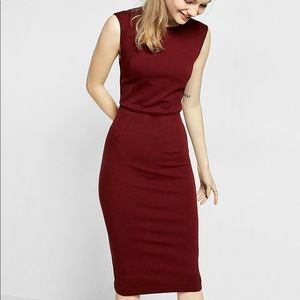 Burgundy Express cocktail dress